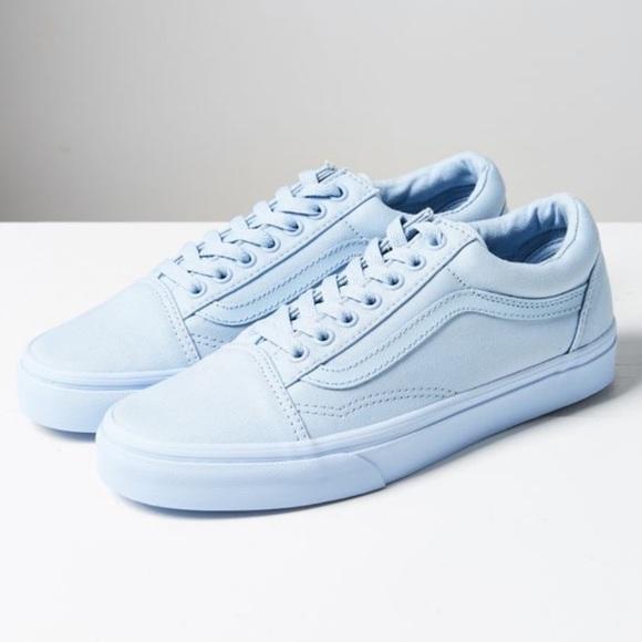 Vans Shoes | Blue Mono Canvas Old Skool